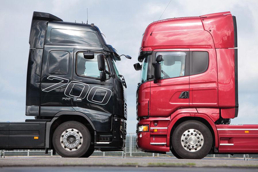 test volvo fh 16 700 gegen scania r 730 autoscout24 trucksblog deutschland. Black Bedroom Furniture Sets. Home Design Ideas