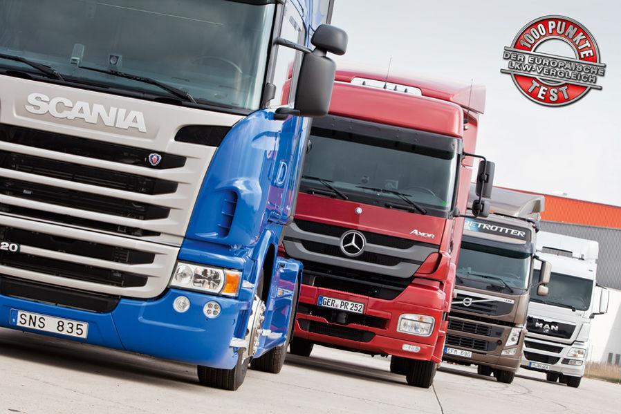 MAN TGS, Mercedes Axor, Scania G et Volvo FM à l'essai