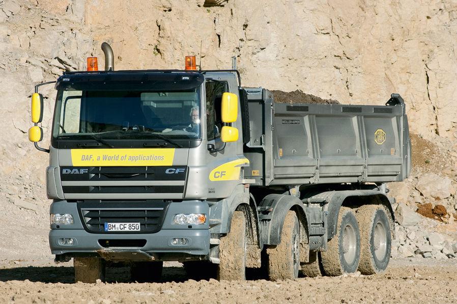DAF CF 85.410 : rouler en tout confort sur chantier