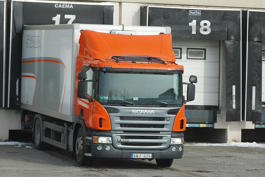 Le Scania P 230 fait forte impression