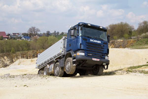 Test Scania G 440 Kipper