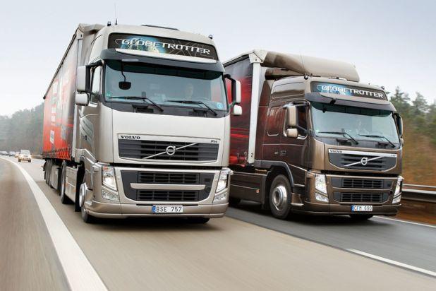 Broederstrijd: Volvo FM 410 tegen FH 500